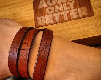 Sliced Multiwrap Bracelet