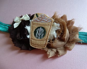 Starbucks inspired baby, Coffee Headband, Coffee, Coffee Lover, Caffeine