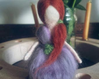 Little Meadow Fairy ~ Handmade needle felted Waldorf doll