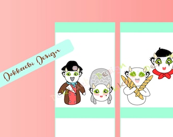 Dokkaebi in Paris, France stickers, French planner stickers, Paris stickers, travel stickers