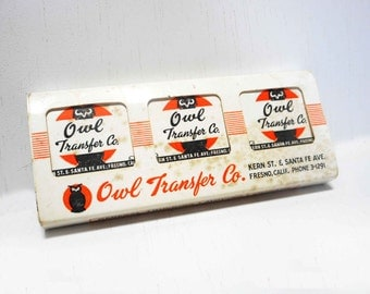Rare Vintage California 50s Owl Transfer Company Match Book Matches Set of Six Unused Mid Century Collectible