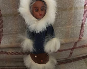 Vintage Eskimo costume Doll national Doll