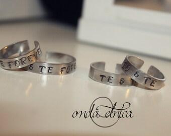 custom engagement rings 2 pair.