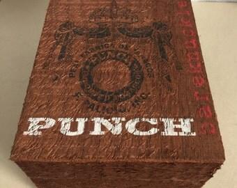 Punch Cigar/keepsake/trinket Box