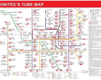 The Manchester United Football Tube Map