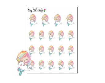 Planner Stickers Mermaid and Narwhal