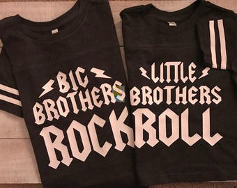 Big Brothers Rock, Little Brothers Roll, Brothers Shirt, Big Brother, Little Brother