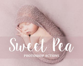 40 Newborn Matte Photoshop Actions - Sweet Newborn Actions - Pastel Matte PS Actions - Baby Pastel Effects - Soft Children Actions - Tinted
