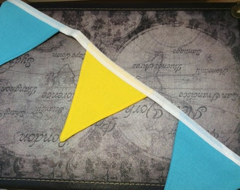 Yellow and blue bunting
