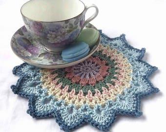 Mandala, Crochet Mandala, Small Crochet Mandala, Doily, Crochet Doily