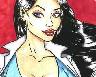 Supergirl illustration. Ilustración Supergirl