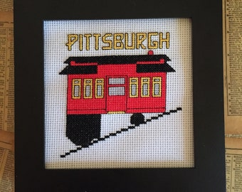Pittsburgh Incline Cross Stitch Pattern Instant Download PDF