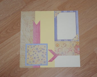 Spring Wedding Scrapbook Page