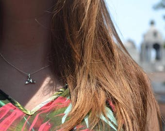 Whale tail necklace - necklace whale's tail