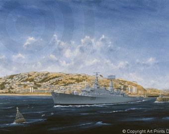 HMS GLAMORGAN in SWANSEA