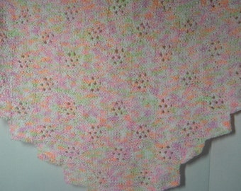 Entrelac Lace Patterned Baby Blanket for girl