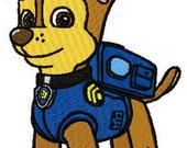 Paw Patrol Chase machine embroidery design