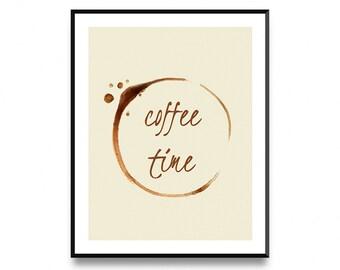 Coffee art printable, coffee art decor, coffee print, coffee art print, coffee kitchen print, Printable Art, Art prints, Scandinavian print