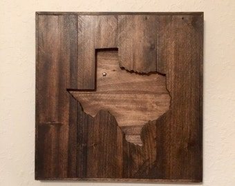 Star over Lubbock Texas wall plaque