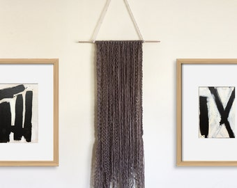RECYCLED Cashmere Wall Hanging Braided Boho Tapestry Wall Art
