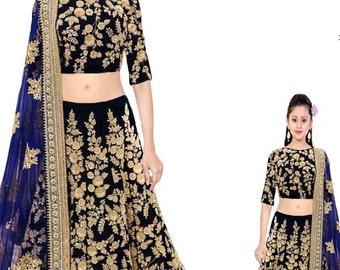Indian Pakistani Designer Bridal Lehenga Choli Semi-Stitched