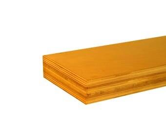 "Adjustable Floating Shelf -Maple and Birch 32""x6""x1.75"""