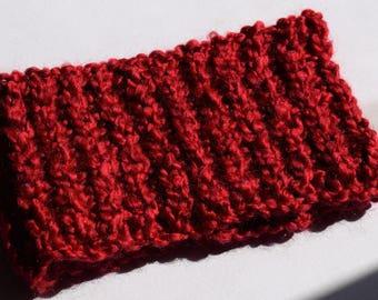 Ruby Red, Chunky Knit Headband, Chunky Knit Ear Warmers