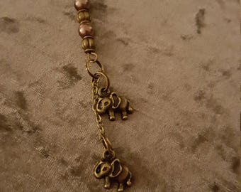Elephant key charm