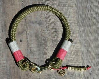 Handmade dog collars from parachute cord/PP/Tau