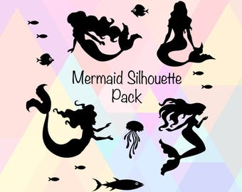 Mermaid SVG | Mermaid Silhouette | Mermaid Clipart | Mermaids svg | Mermaid Vector | Mermaid dxf | Sea Mermaid svg | mermaid life svg