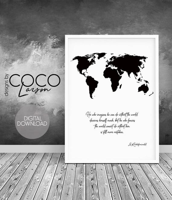 Travel quote map quote world map world map print world map te gusta este artculo gumiabroncs Choice Image