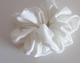 White hair  Scrunchie, Chouchou, hair accessories, handmade by ScrunchiesCo
