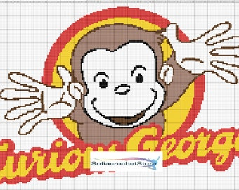 GRAPH PATTERN Curious George Crochet Blanket