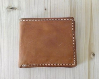 Vegetable tanned leather men's wallet/gift for him/