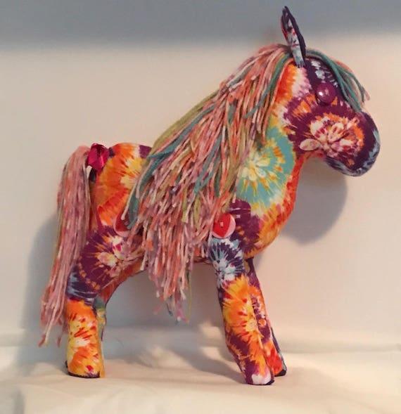 Stuffed pony (Tie - Dye)