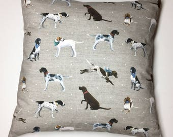 Pointer Dog Cushion Cover in Unique Vintage Natural Colours. Dog lovers. Home Decor, pillow cover, home & living, decorative pillow, 15x15