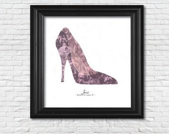 High Heel Collage (12x12)