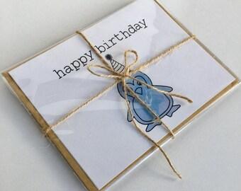 Happy Birthday Card Set- 5 Cards & 5 Envelopes
