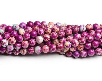 8mm purple jasper purple stones 8mm purple gemstone materials 8mm purple beads 8mm beads semi precious stones strand of gems top quality gem