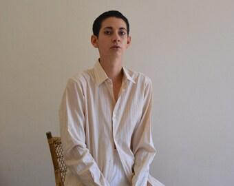 Parisian vintage beige striped shirt
