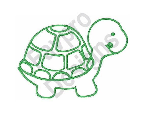 Turtle Outline Machine Embroidery Design