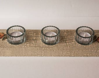 Tea Light Holder, Candle Holder, Table Centrepiece, Decoupage, Shabby Chic