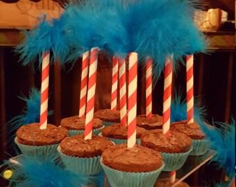 Dr. Seuss Truffula Tree Cupcake / Dessert Picks