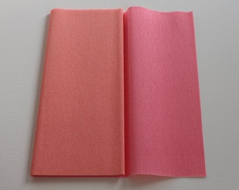 Gloria Doublette Crepe paper / Double sided crepe paper ideal for making paper flowers - Light Rose & Pink
