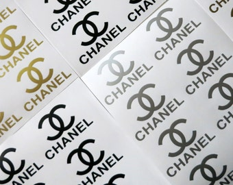 Set of 12 Chanel logo vinyl decal