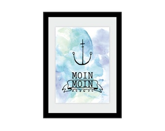 """Print/print """"Moin Moin"""" in A4"""