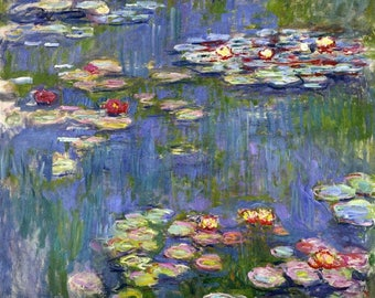 Water Lilies, 1916- Claude Monet Oil Painting Museum Quality Reproduction