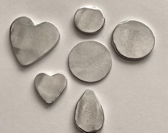 Pewter Stamping Blanks - Sample packs - pewter blanks - hand cast - organic blanks