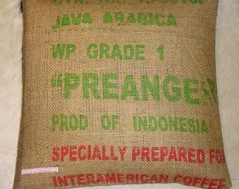 "Pillowcase original coffee bag cushion ""SPECIALLY"" 50 x 50 cm"