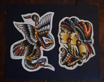 Traditional American Tattoo Flash Print